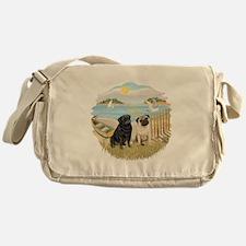 RowBoat-2 Pugs (B+F) Messenger Bag