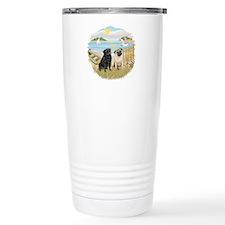 RowBoat-2 Pugs (B+F) Travel Mug