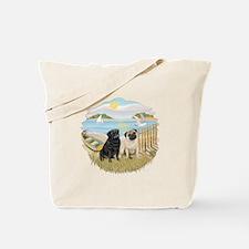 RowBoat-2 Pugs (B+F) Tote Bag