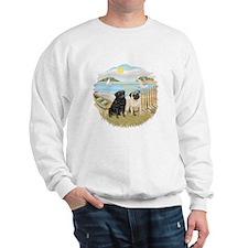 RowBoat-2 Pugs (B+F) Sweatshirt