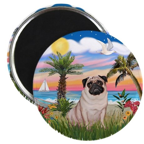 "Palms - Pug #17 2.25"" Magnet (10 pack)"
