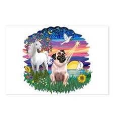 Magical Night - Pug #22 Postcards (Package of 8)