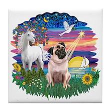 Magical Night - Pug #22 Tile Coaster