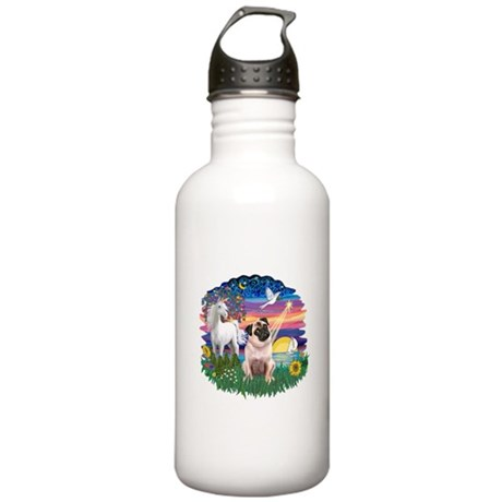 Magical Night - Pug #22 Stainless Water Bottle 1.0