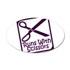 runswithscissors-on-black.png Wall Decal