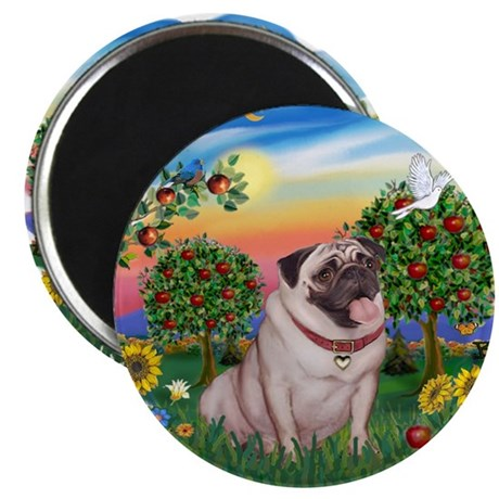 """Bright Country-Pug #2 2.25"""" Magnet (10 pack)"""