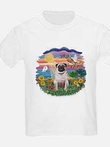 Autumn Sun - Pug #3 T-Shirt