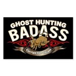Ghost Hunting Badass Sticker (Rectangle)