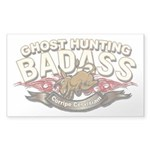 Ghost Hunting Badass Sticker (Clear)