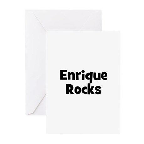 Enrique Rocks Greeting Cards (Pk of 10)