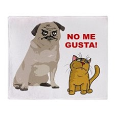 Dog No Me Gusta Cat Throw Blanket