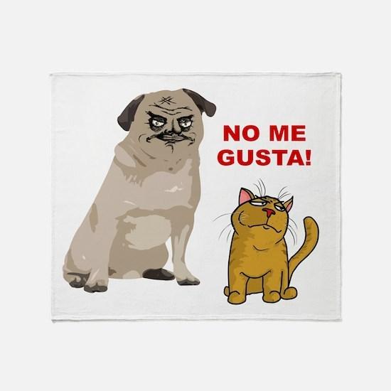Dog No Me Gusta Cat Throw Blanket