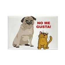 Dog No Me Gusta Cat Rectangle Magnet