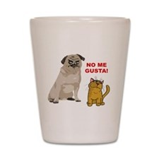 Dog No Me Gusta Cat Shot Glass