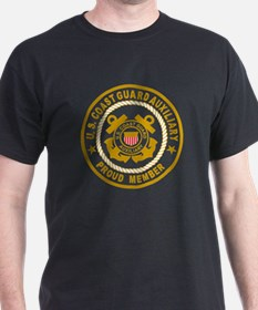 USCG Auxiliary Pride<BR> Black T-Shirt 1