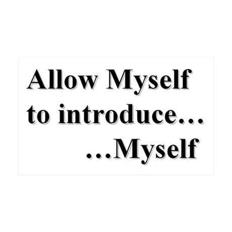 Allow Myself 38.5 X 24.5 Peel 35x21 Wall Decal