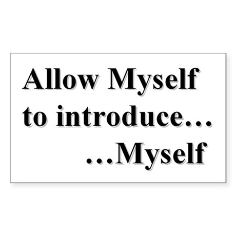 Allow Myself Sticker (rectangle)