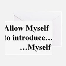 Allow Myself Card Greeting Cards