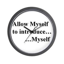 Allow Myself Wall Clock