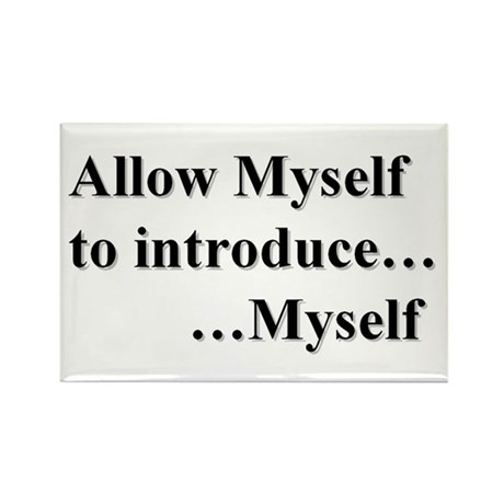 Allow Myself Rectangle Magnet (10 pack)
