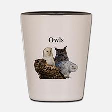 Owls Shot Glass