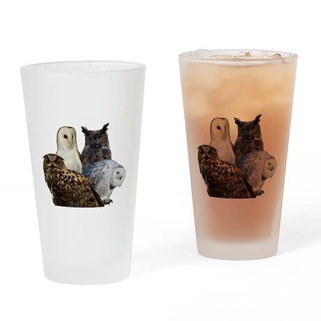 Owls Drinking Glass