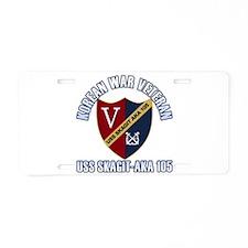 Korea Vet USS Skagit Aluminum License Plate