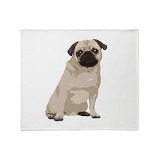 Cartoon Pug Throw Blanket