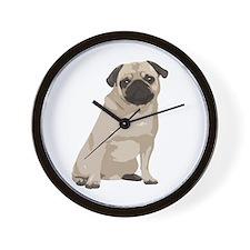 Cartoon Pug Wall Clock