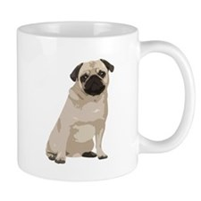 Cartoon Pug Mug