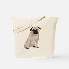 Cartoon Pug Tote Bag