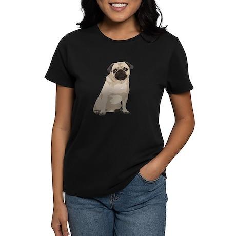 Cartoon Pug Women's Dark T-Shirt