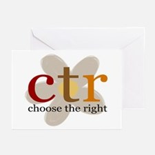 CTR brown flower Greeting Cards (Pk of 10)