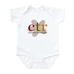 CTR brown flower Infant Creeper