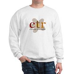 CTR brown flower Sweatshirt