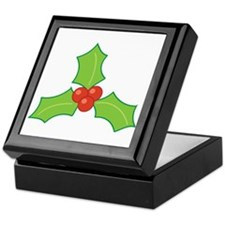Christmas Holly Keepsake Box