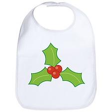 Christmas Holly Bib