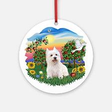 BrightCountry-Westie#3 Ornament (Round)