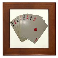 7 ACES + ONE Framed Tile