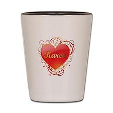 Karen Valentines Shot Glass