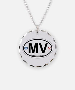 Martha's Vineyard MA - Oval Design. Necklace