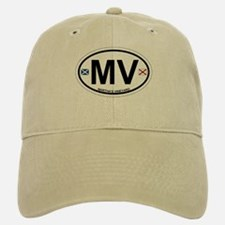 Martha's Vineyard MA - Oval Design. Baseball Baseball Cap