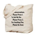 To Ask Me Out, Please Press 2 Tote Bag
