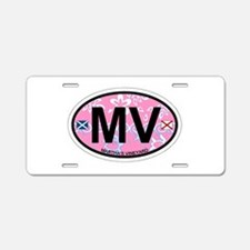 Martha's Vineyard MA - Oval Design. Aluminum Licen