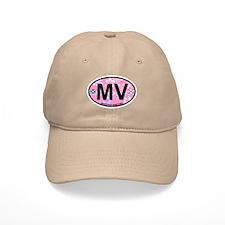 Martha's Vineyard MA - Oval Design. Baseball Cap