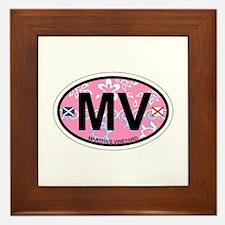 Martha's Vineyard MA - Oval Design. Framed Tile