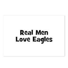 Real Men Love Eagles Postcards (Package of 8)