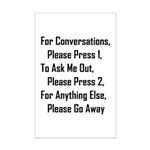 To Ask Me Out, Please Press 2 Mini Poster Print