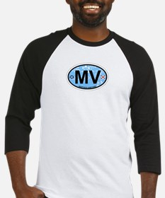 Martha's Vineyard MA - Oval Design. Baseball Jerse