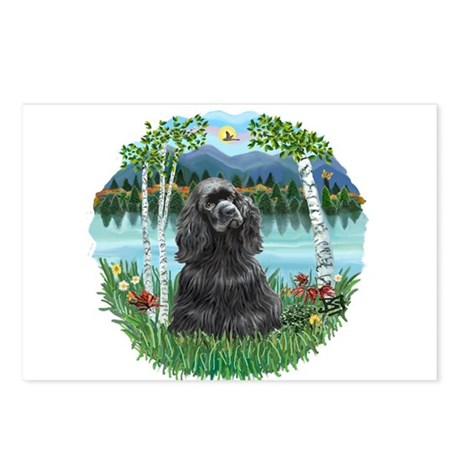Birches-BlackCocker Postcards (Package of 8)